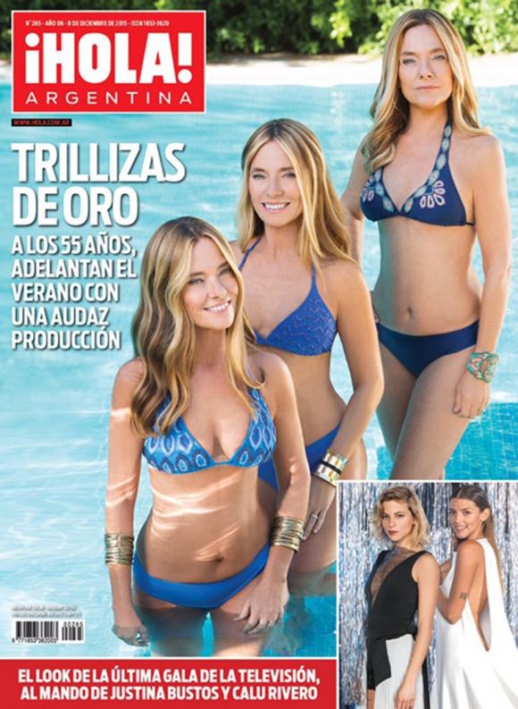 Las Trillizas de Oro, en bikini, en 2015. (Foto: Web)