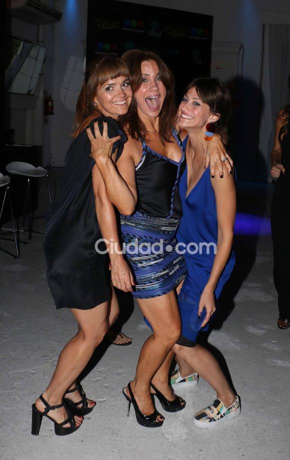 Andrea Pietra, Nancy Dupláa y Mónica Antonópulos.  (Foto: Movilpress-Ciudad.com)