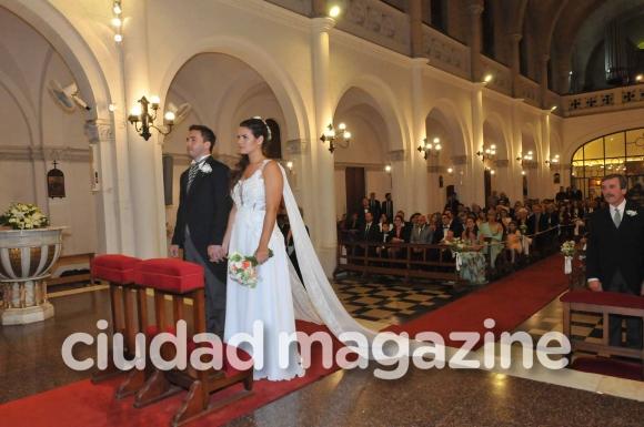 Las fotos del casamiento por iglesia de Micaela Vázquez y Federico Larroca