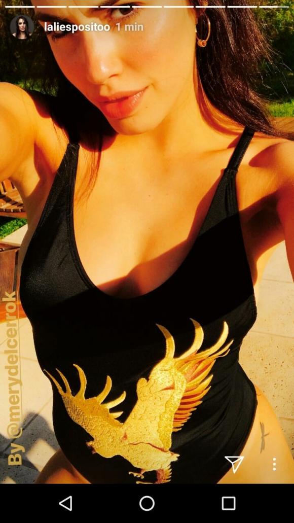 Lali, una de las diosas que adelantaron el verano en traje de baño.