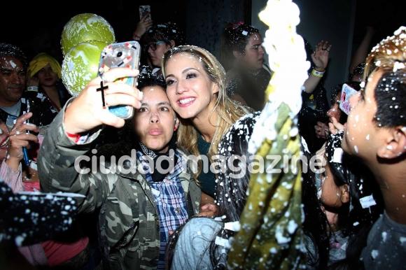 El festejo tras la final del Bailando (Foto: Movilpress)