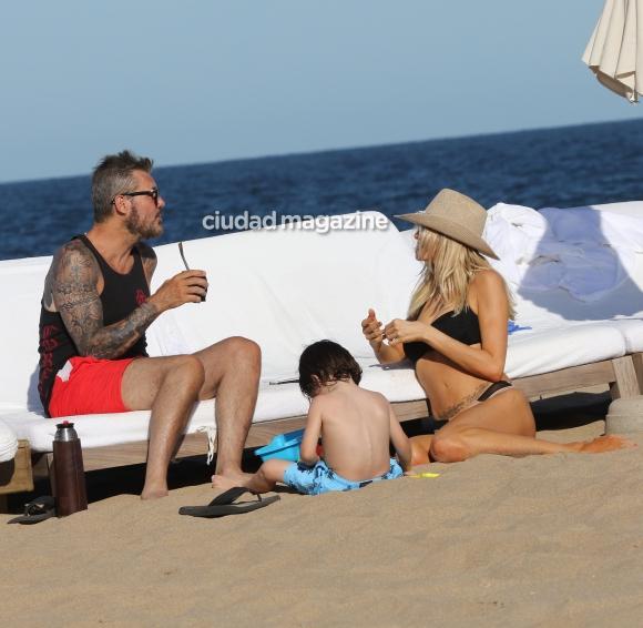 Tinelli y Guillermina Valdés, de vacaciones en Punta del Este