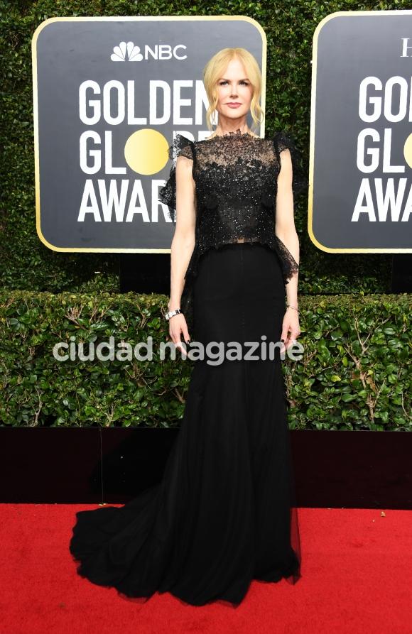 La moda de negro en los Globos de Oro 2018 (Fotos: AFP).