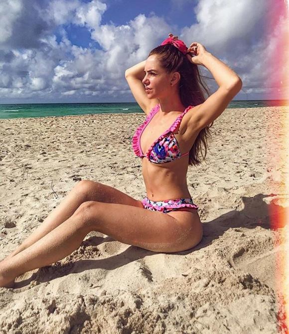 Julieta Nair Calvo, divina en sus vacaciones en Miami (Fotos: Instagram).