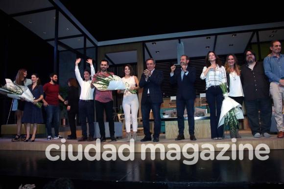 El estreno de Perfectos desconocidos, la obra dirigida por Guillermo Francella. (Foto: Movilpress)