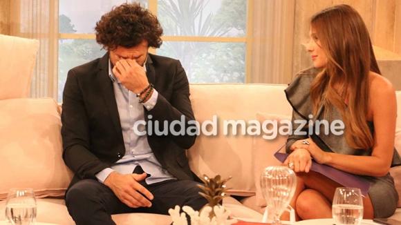 Lo que no se vio de la emoción de Pico Mónaco en Pampita Online (Fotos: Movilpress).