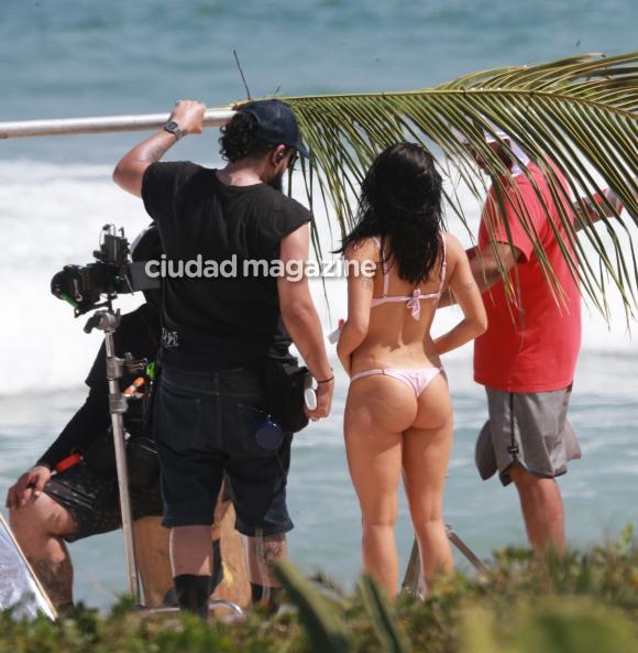 Lali Espósito, súper sexy durante la filmación de un videoclip. Foto: Grosby Group