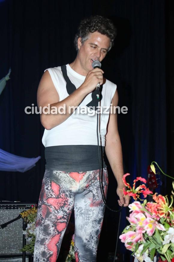 Mike Amigorena en el recital de Potra Liberada. (Foto: Movilpress)