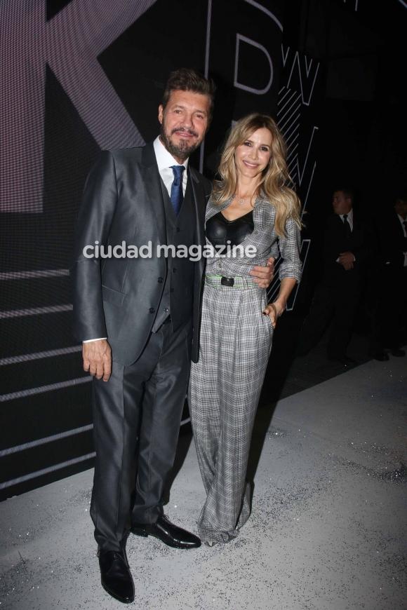 Marcelo Tinelli y Guillermina Valdés,  en BAFWeek (Movilpress)