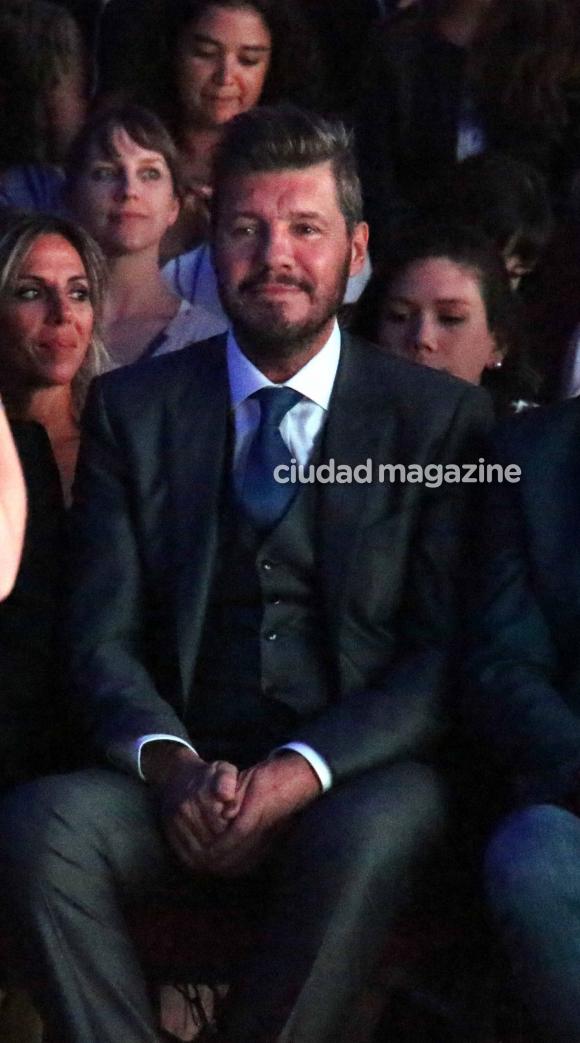 Marcelo Tinelli, espectador de lujo en el desfile de Guillermina Valdés (Movilpress)