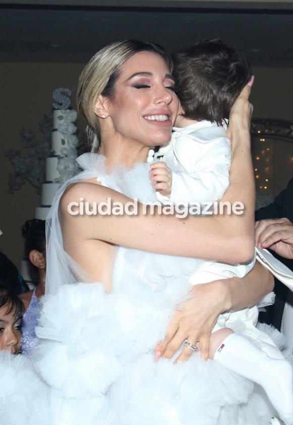 Estefanía Xipolitakis en el cumpleaños de Salvador Uriel. (Foto: Movilpress)