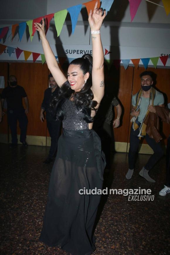 Las fotos del show de Ángela Leiva y el apoyo de sus compañeros de La Academia. Foto: Movilpress