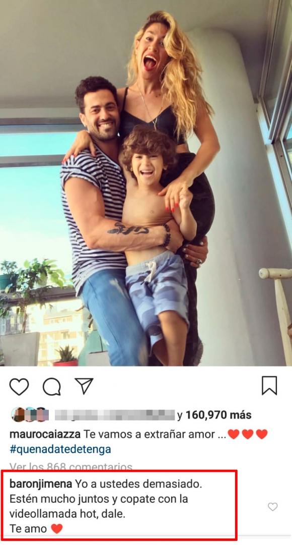 """El pícaro pedido de Jimena Barón a Mauro Caiazza desde Miami: """"Copate con la videollamada hot; te amo"""""""