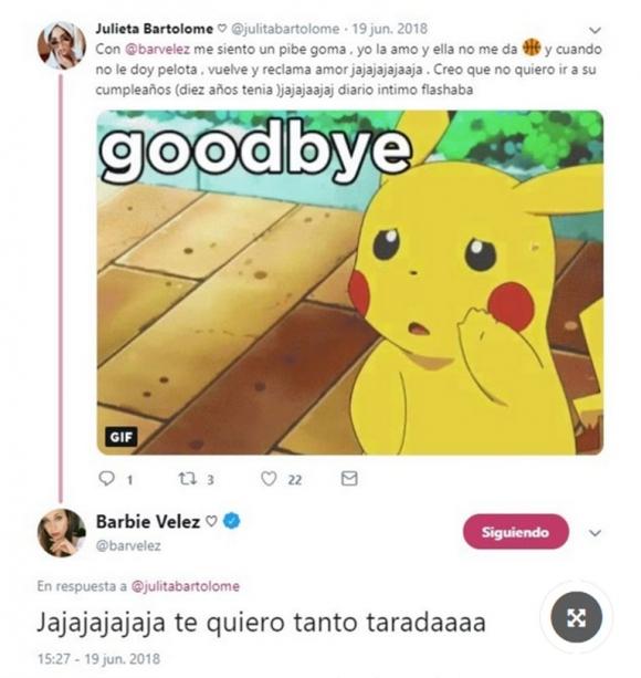 Juli Bartolomé, actual amigovia de Fede Bal, es amiga de Barbie Vélez: sus cariñosos mensajes en las redes