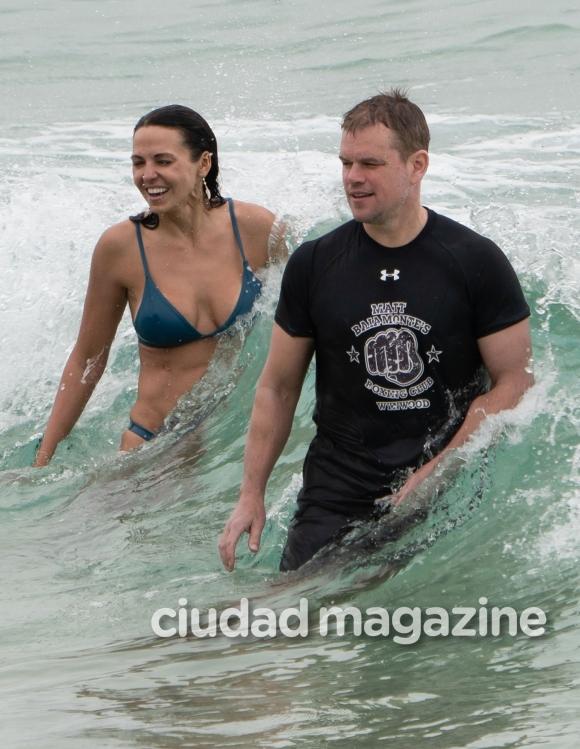 Las vacaciones familiares de Matt Damon con su esposa argentina y sus hijas en Australia