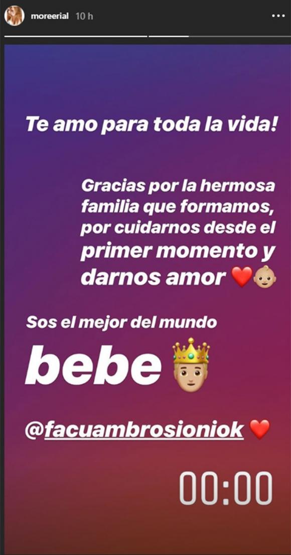 """Morena Rial, pancita de 4 meses y súper enamorada de Facundo: """"Gracias por la hermosa familia que formamos"""""""
