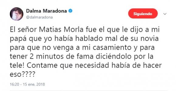 Áspero audio de Diego Maradona sobre su hija Dalma
