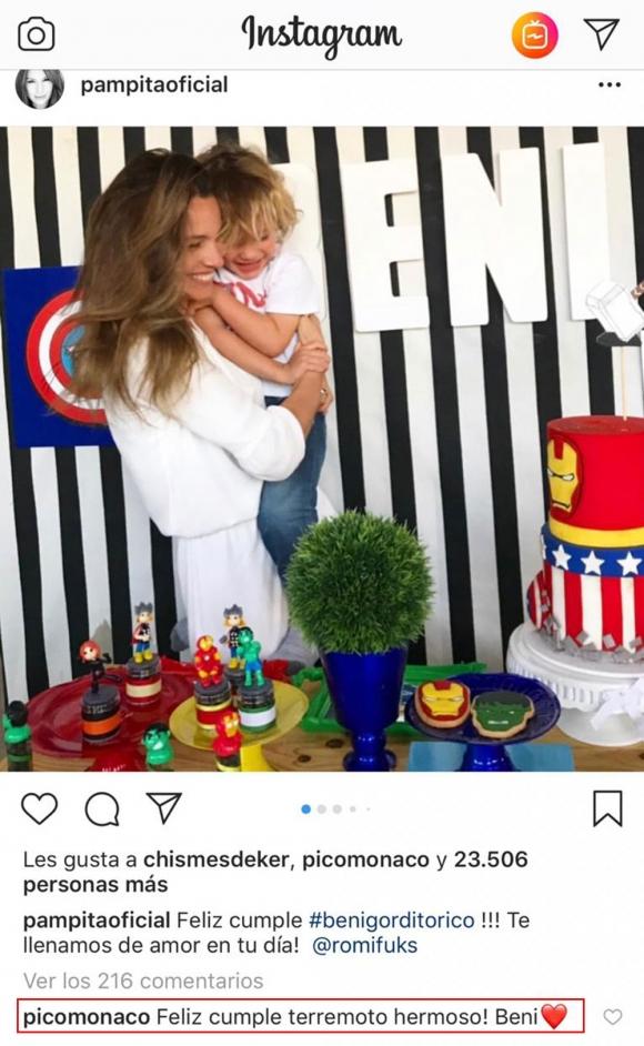 El tierno mensaje de cumpleaños de Pico Mónaco al hijo menor de Pampita