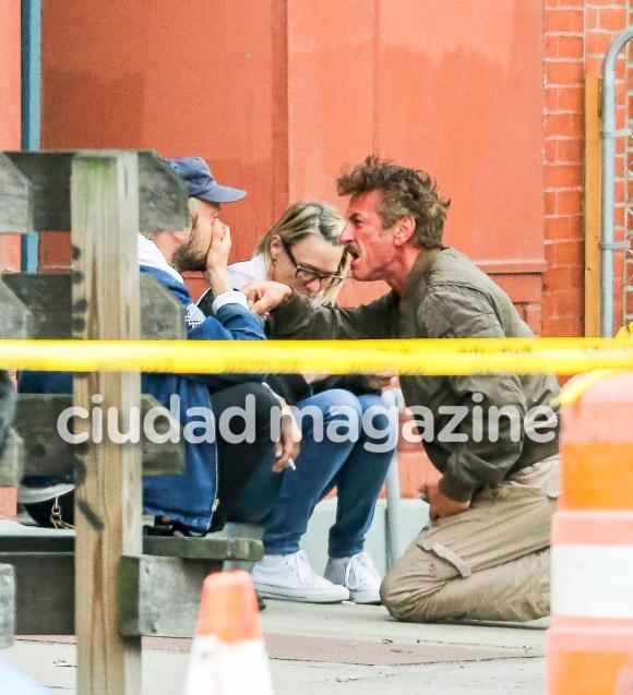 Sean Penn furioso con su yerno en la calle