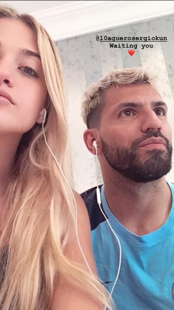 El Kun Agüero blanqueó su romance con la modelo Sofía Calzetti: la foto que publicó en su Instagram