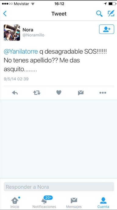 Tit fern ndez furioso con yanina por un tweet contra su for Ciudad com ar espectaculos