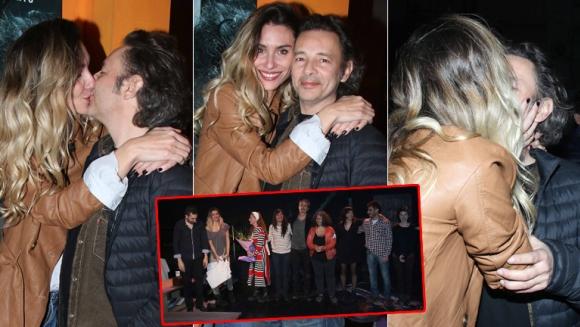 Paula Morales y Fabián Vena tras el debut de Me amarás por siempre jamás. (Foto: Movilpress)
