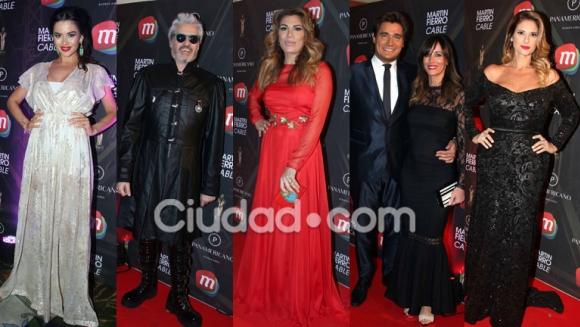 Todas las figuras en la alfombra roja de los Martín Fierro de Cable (Fotos: Movilpress).