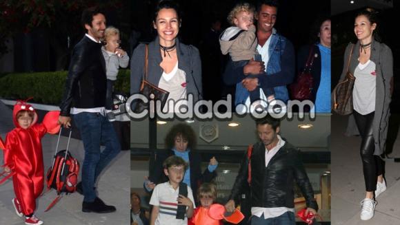 Pampita y Benjamín Vicuña, reunidos por sus niños (Fotos: Movilpress).