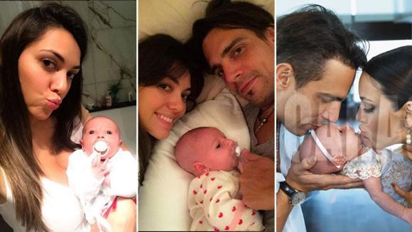 Las fotos más tiernas de Floppy Tesouro con Moorea, su primera hija junto a Rodrigo González Prieto. (Foto: Instagram y revista Caras)