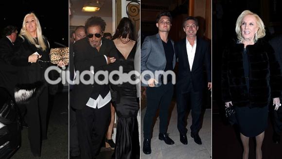 Los famosos fueron a ver a Al Pacino al Teatro Colón (Foto: Movilpress)