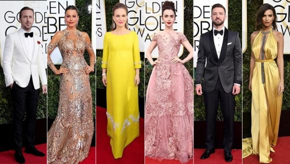 Mirá los mejores looks de los Golden Globes 2017. (Fotos Gentileza E! Entertainment Television)