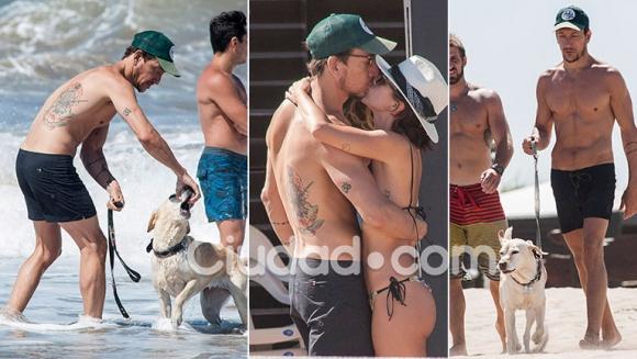 Las fotos de Nicolás Vázquez y Gimena Accardi en la playa de Mar del Plata. (Foto: GM Press)
