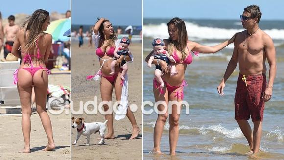 Floppy Tesouro y su lomazo en Punta del Este, a cuatro meses de ser madre de Moorea junto a Rodrigo Fernández Prieto. (Foto: GM Press - Ciudad.com)