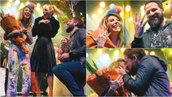 Stefy Xipolitakis se comprometió con su novio arriba del escenario. Foto: Revista Gente