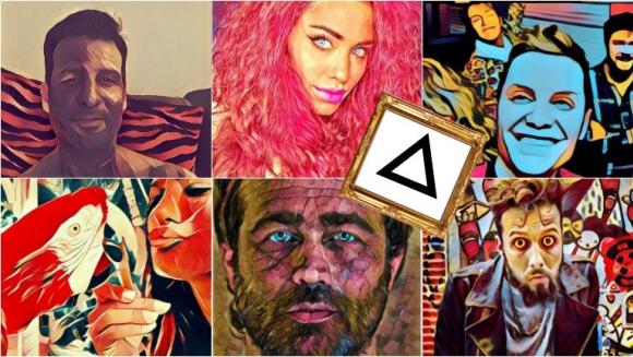 Los famosos se divierten con Prisma, la nueva app de moda. Foto: Instagram