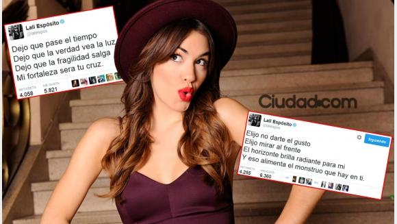 Lali Espósito habló con Ciudad.com sobre sus enigmáticos tweets.