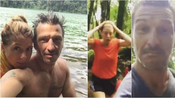 Florencia Bertotti y Federico Amador, de vacaciones