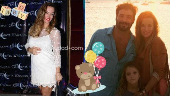 Claudia Albertario espera su segundo hijo y mostró su pancita en el debut de Moria Casán. Foto: Movilpress/ Instagram