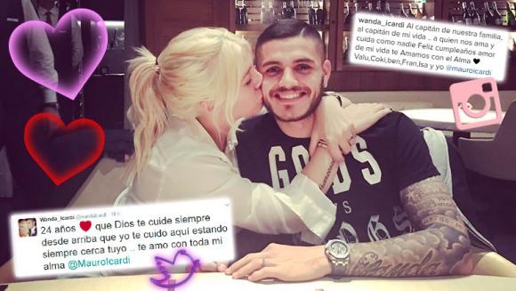 Los tiernos mensajes de Wanda Nara a Mauro Icardi en su cumpleaños. (Foto: Web)