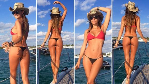 El súper lomazo de Pampita, a bordo de un yate en Miami. Foto: Twitter.