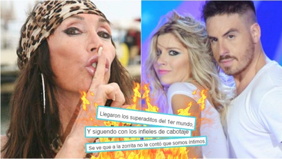 Moria Casán, letal en su contraatque contra Fede Bal y Laurita Fernández. Foto: Web