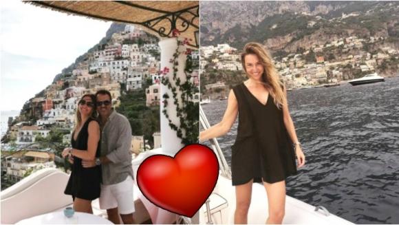 Las románticas vacaciones de Andrea Bursten y su novio Damián Schuchner en Positano. Foto: Instagram