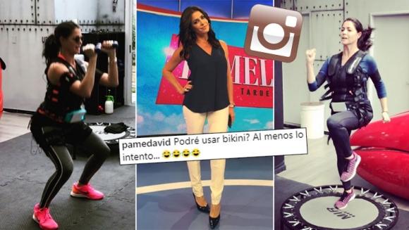 La exigente rutina de electro fitness de Pamela David para llegar al verano