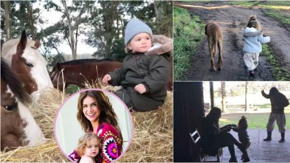 Los videos súper tiernos de Zaira Nara con su hija Malaika en el campo: