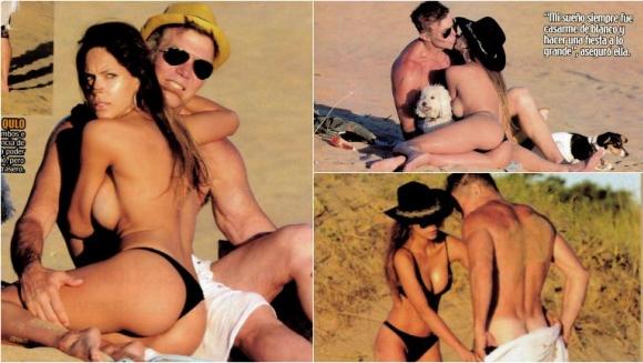 Barby Franco y Fernando Burlando, muy mimosos en playas alejadas de Punta: lomazos, topless y el blooper del abogado