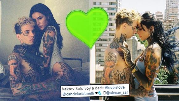 Cande Tinelli y las (muy) provocadoras fotos ¡con su exnovio tatuador!: El amor es el amor