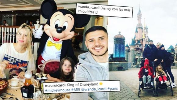 El álbum de fotos de Wanda e Icardi con sus hijas en París.