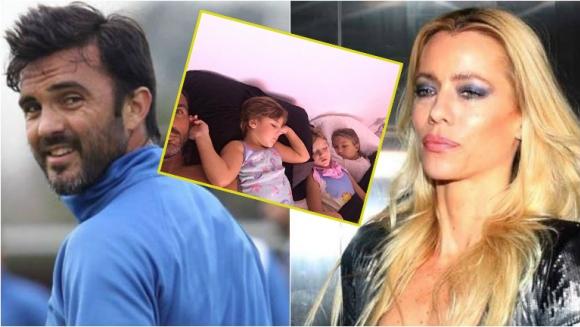 Fabian Cubero y su foto en la cama con sus hijas tras la polémica con Nicole Neumann
