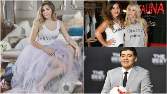 Claudia Villafañe y Gianinna llevaron a Dalma Maradona al ...
