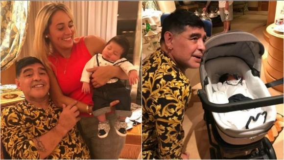 El primer encuentro de Diego Maradona con su nieto, Diego Matías: Es igualito